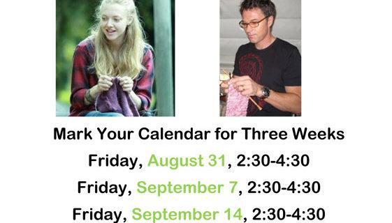 FREE Three-week class starts August 31!